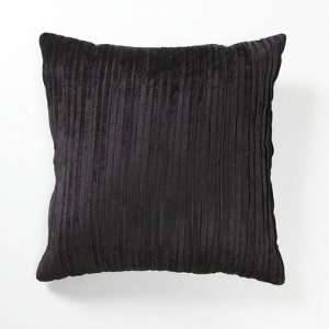 Illusion Venetian Velvet Pleated Pillow in Black [Set of 2