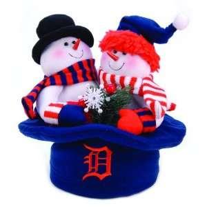 12 MLB Detroit Tigers Snowmen Top Hat Table Christmas