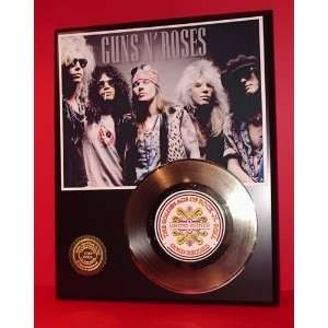 GUNS N ROSES GOLD RECORD LIMITED EDITION DISPLAY