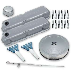 Proform 302 515 Chrome Engine Dress Up Kit with Embossed Ford Racing