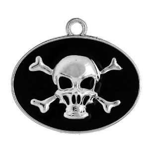 DIY Jewelry Making 12x Jolly Roger Skull with Crossbones Alloy Enamel