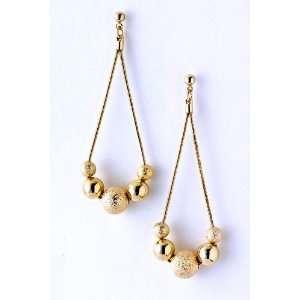 Gold Beaded Dangle Earrings Fashion Jewelry Jewelry