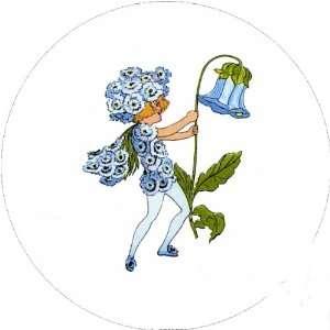 Flower Children 58mm Round Pin Lapel Badge Sweet William