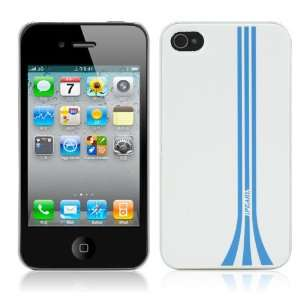 WHITE & BLUE iPhone 4S 4 Smart Case Stand SIM & Credit