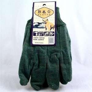Green Cloth Heavy Duty Work Gloves Case Pack 12
