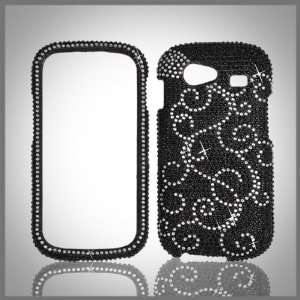 Black Cristalina crystal bling case cover for Samsung Nexus S Cell