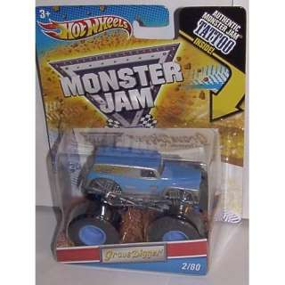 Grave Digger (Blue Silver)   Hot Wheels Monster Jam 2011