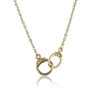 Sheila Fajl Rose Gold Plated Tiny Handcuffs Necklace Jewelry