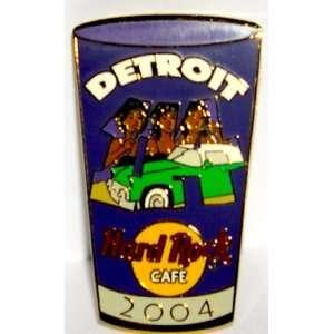 Hard Rock Cafe Pin # 24735 Detroit 2004 Pint Glass Series