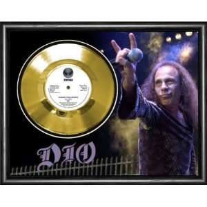 Dio Hungry For Heaven Framed Gold Record A3 Musical