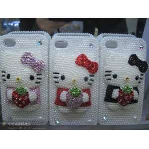 Hello Kitty Hard Case for Iphone 4 4g S 4s(red) Cell Phones