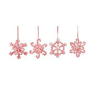 Club Pack of 12 Candy Crush Snowflake Candy Cane Christmas