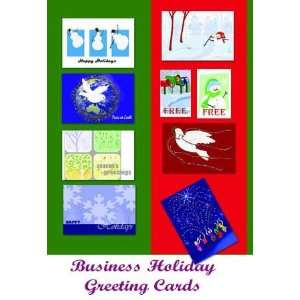 Assorted Holiday Greeting Cards for Business 50 Cards Pack