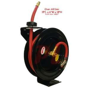 3/8 x 25 Retractable Air Hose Reel Wall Truck Mount 300
