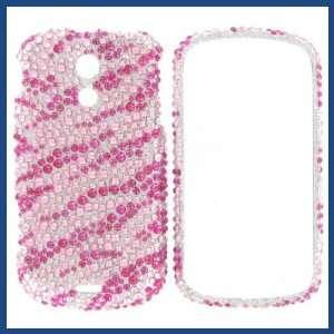 D700 Epic 4G Full Diamond Hot Pink Zebra Protective Case Electronics