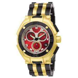 Chronograph 18k Gold Plated and Polyurethane Watch Invicta Watches