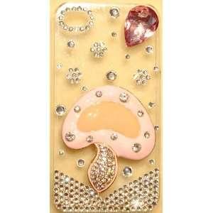 Cute Light PINK MUSHROOM Case for iPhone 4 & 4S Verizon Sprint