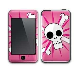 Pink Skulls Design Decal Protective Skin Sticker for Apple iPod