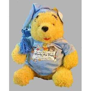 the Pooh in Nightshirt Hat 18 Jumbo Plush Doll Toy Toys & Games