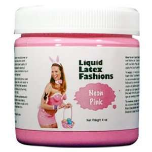 Ammonia Free Liquid Latex Body Paint   4oz Neon Pink Beauty