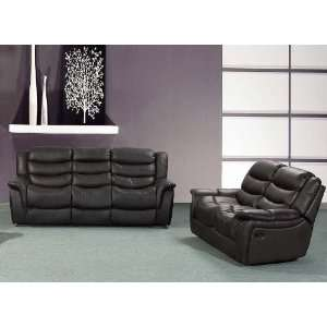pc Bonded Leather Sofa & Loveseat Set with 4 Recliners