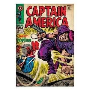 Marvel Comics Retro Captain America Comic Book Cover #108
