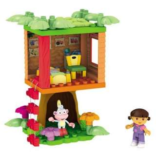 Mega Bloks Doras Buildable Boots Treehouse Adventure  Toys & Games