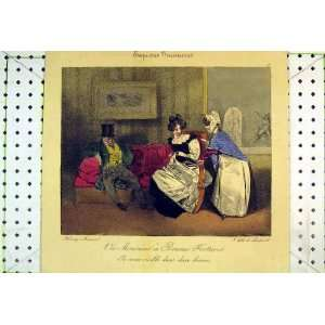 com French Colour Print Man Woman Romance Maid House Home & Kitchen