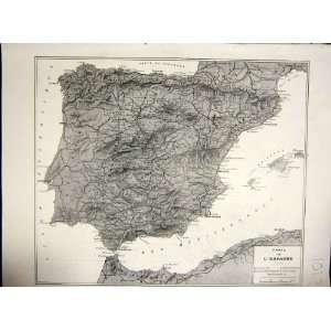 Map Madrid Spain Nationalist Military French Print 1936