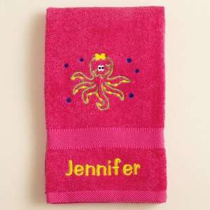 Personalized Octopus Beach Towel Pink  Home & Kitchen