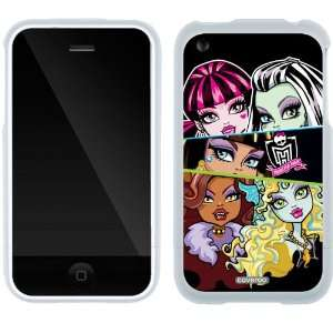 Monster High   5 Girls design on iPhone 3G/3GS Slider Case