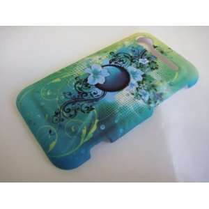 Hawaii Flowers with Circle Moon Hard Case Cell Phones & Accessories