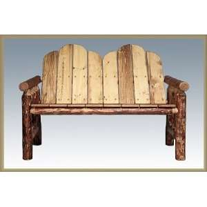 Log Deck Bench by Montana Woodworks  Glacier Country