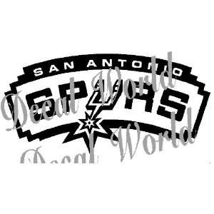 SAN ANTONIO SPURS LOGO NBA WHITE DECAL VINYL STICKER