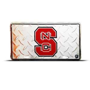 Wolfpack Nc Diamond Back Metal College License Plate Wall