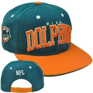 NFL Team Apparel SB400 Green Flat Bill Snapback Football Cap Hat Miami