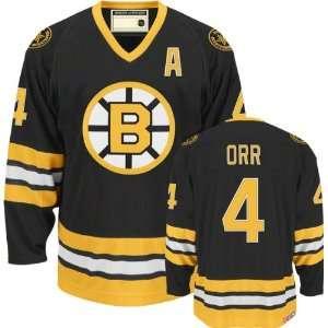 Gear   Bobby Orr #4 Boston Bruins Jersey Black Hockey Jerseys (Logos