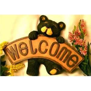 Northwood Bear Holding Welcome Sign