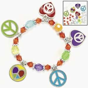 Peace & Love Charm Bracelet Craft Kit   Craft Kits