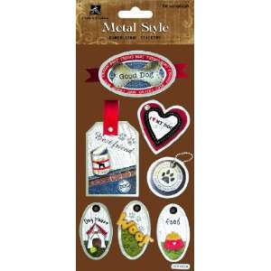 Good Dog Metal Edge Tag Scrapbook Stickers (MSS007) Arts