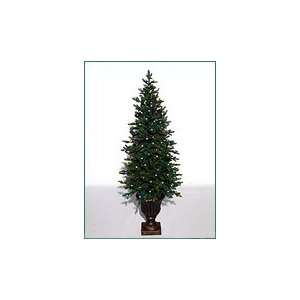 5 Golden Hickory Potted Tree Pre Lit Artificial Christmas Tree