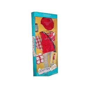 Journey Girls 18 inch Doll Clothes   Red Shirt, Striped
