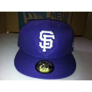 San Francisco Giants Authentic Purple Hat 7 1/4  Sports