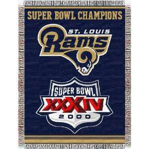 St. Louis Rams Woven NFL Throw   48 x 60