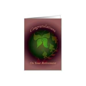 butterfly retirement congratulations Card: Health