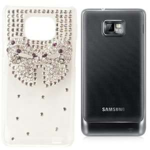 Rhinestone Crystal Bow Snap On Hard Case Cellphone Cover Cell Phones