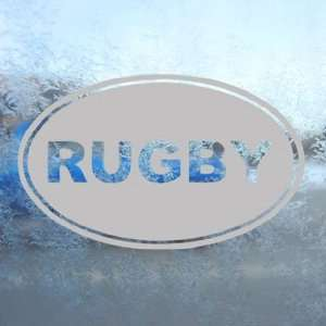 Rugby EURO OVAL Gray Decal Car Truck Bumper Window Gray