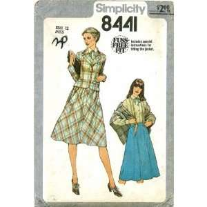 Simplicity 8441 Sewing Pattern Misses Jacket Skirt Blouse