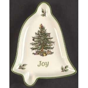 Spode Christmas Tree Green Trim 5 Bell Shaped Tray, Fine
