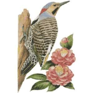 Alabama State Bird and Flower Counted Cross Stitch Pattern